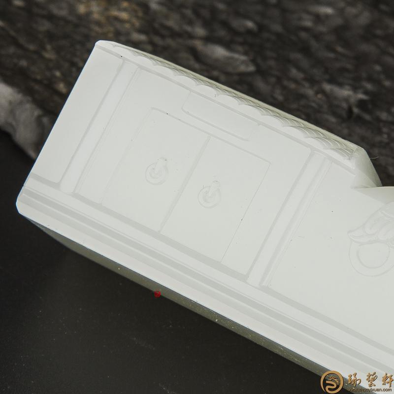 【琢艺轩】穆宇静 新疆和田玉一级白籽玉摆件 印象后海 271.3克