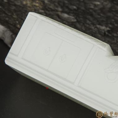 【琢藝軒】穆宇靜 新疆和田玉一級白籽玉擺件 印象后海 271.3克