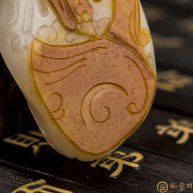 【琢艺轩】新疆和田红皮白玉籽玉挂件 涅槃 19.7克