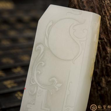 【琢艺轩】穆宇静 新疆和田黄皮一级白籽玉把件 武将 149克