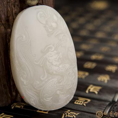 【琢艺轩】新疆和田红皮白玉籽玉牌子 火神 68.8克
