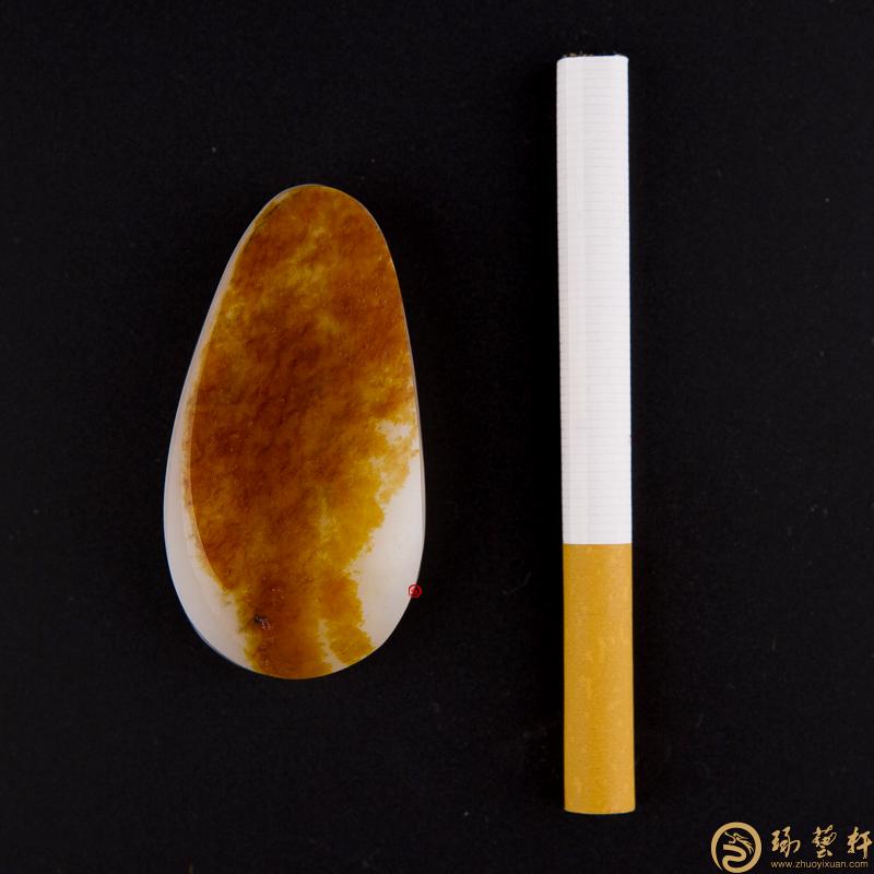 【琢艺轩】新疆和田红皮一级白玉籽玉 原料 40.7克