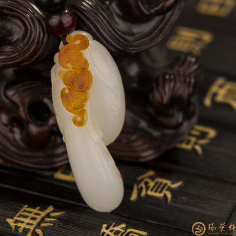 新疆和田红皮羊脂白籽玉挂件 四季有福 5克(客户代卖)