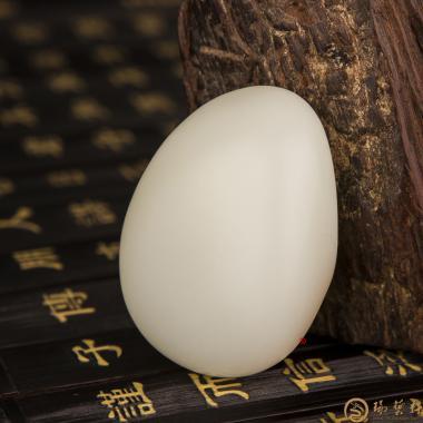 【琢藝軒】新疆和田紅皮羊脂白玉籽玉 原石 63克