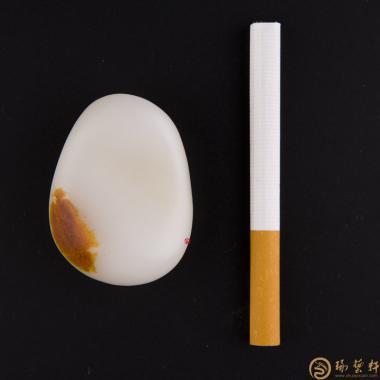 【琢艺轩】新疆和田红皮羊脂白玉籽玉 原石 63克