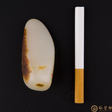 【琢艺轩】新疆和田红皮羊脂白玉籽玉 原石 58.5克