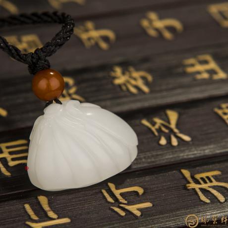 新疆和田羊脂白玉籽玉挂件 莲蓬 7克