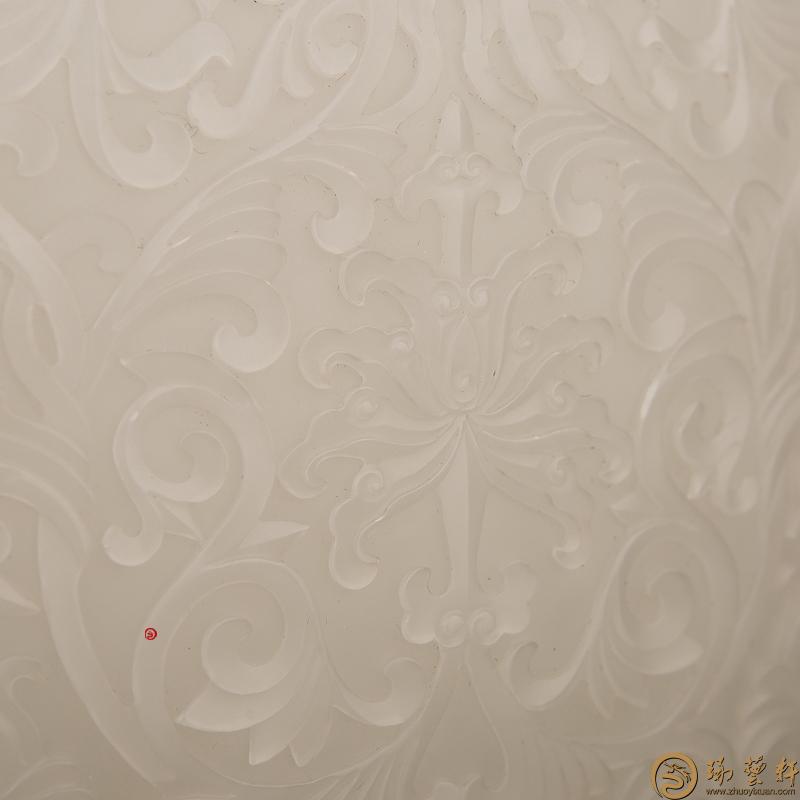 【琢艺轩】新疆和田羊脂玉籽玉摆件 缠枝双耳瓶 1105克