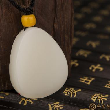 【琢艺轩】新疆和田白皮白玉籽玉挂件 样样如意 25克