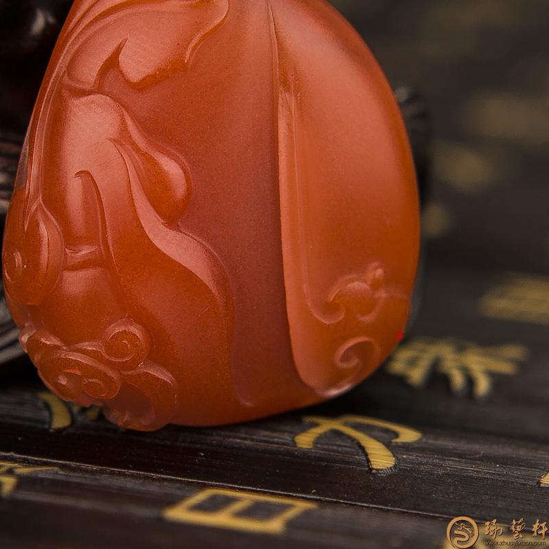 【琢艺轩】四川凉山南红玛瑙挂件 母爱 11.4克