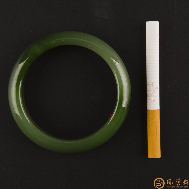 【琢艺轩】俄罗斯碧玉 手镯 71.3克