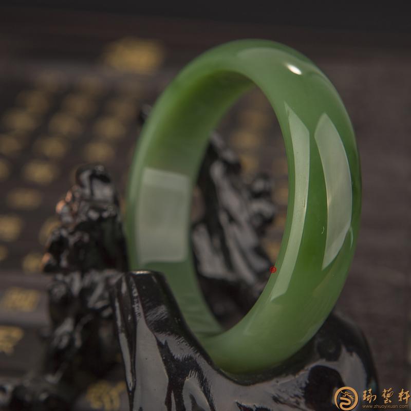 【琢艺轩】俄罗斯碧玉 手镯 67.6克