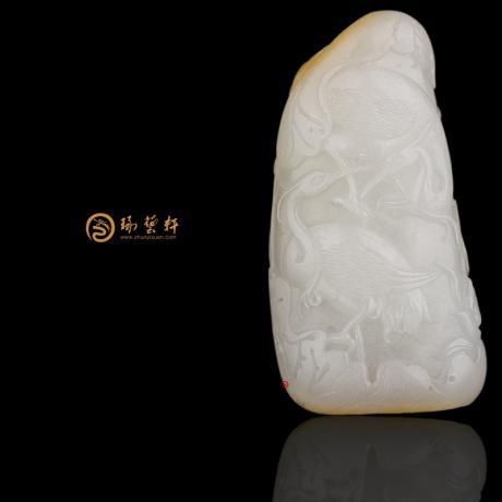 新疆和田黄皮一级白玉籽玉把件 路路有福 65克