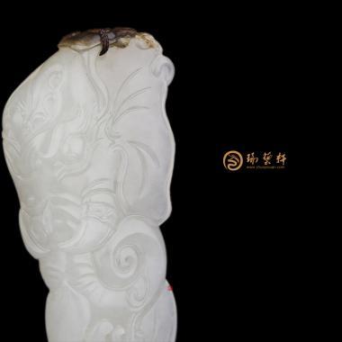 【琢艺轩】新疆和田秋梨皮一级白籽玉挂件 象头神 18克