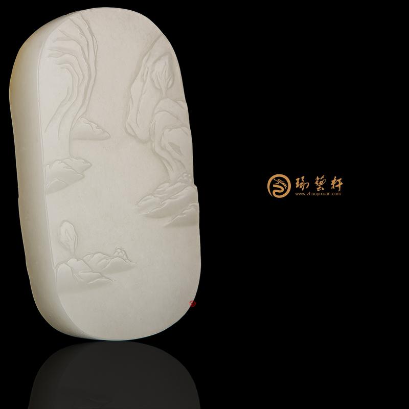 【琢艺轩】新疆和田黄皮白玉籽玉牌子 怡然 42.8克