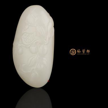 【琢艺轩】新疆和田黄皮一级白玉籽玉挂件 喜事连连 29克