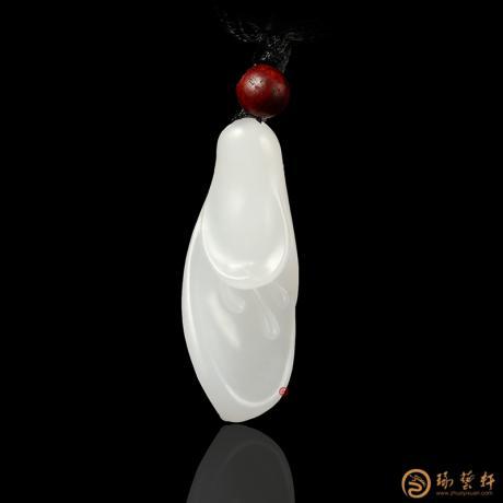 新疆和田一级白玉籽玉挂件 兰花 8.5克