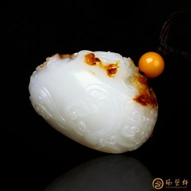 【琢藝軒】穆宇靜 新疆和田秋梨皮一級白玉掛件 地藏菩薩 50克