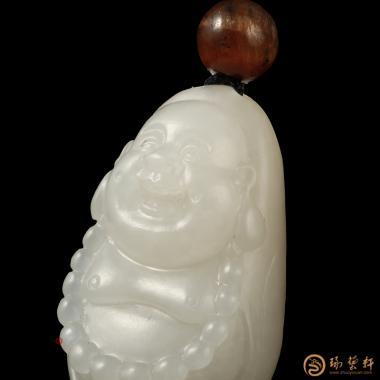 【琢艺轩】新疆和田黄皮白玉籽玉挂件 弥勒佛 10.2克
