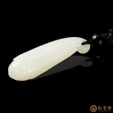 【琢艺轩】新疆和田一级白籽玉挂件 兰花 3.5克