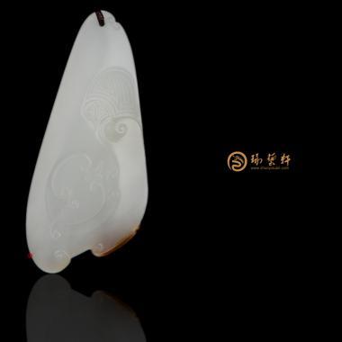 【琢艺轩】新疆和田红沁皮一级白籽玉挂件 时来运转 15.5克