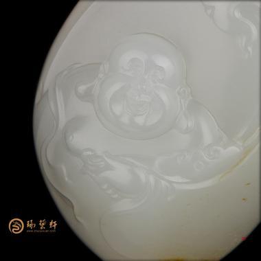 【琢艺轩】新疆和田洒金皮一级白挂件 弥勒佛 31克(独籽)