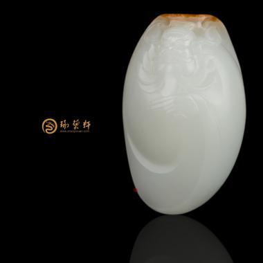 【琢艺轩】穆宇静 新疆和田红皮一级白玉籽玉把件 武将 113克