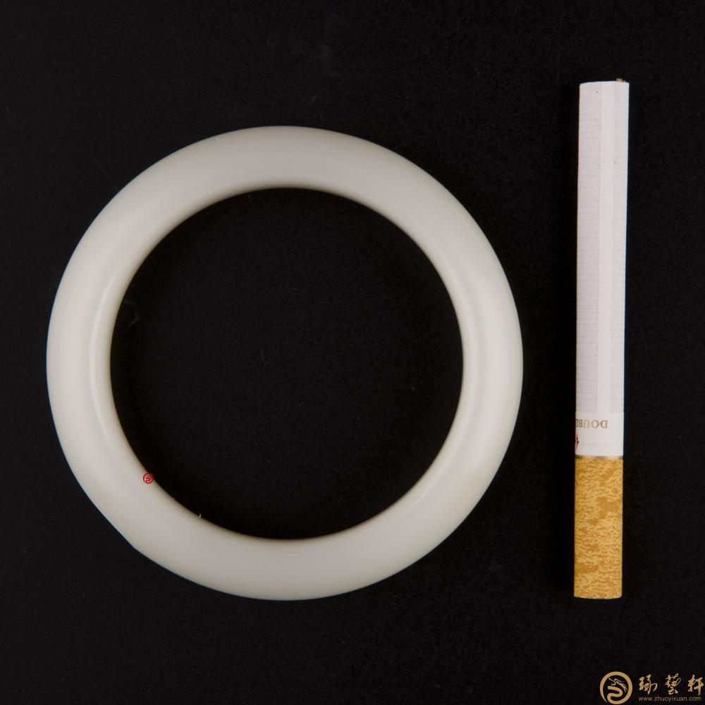 【琢藝軒】新疆和田白皮一級白籽玉 手鐲 75.3克