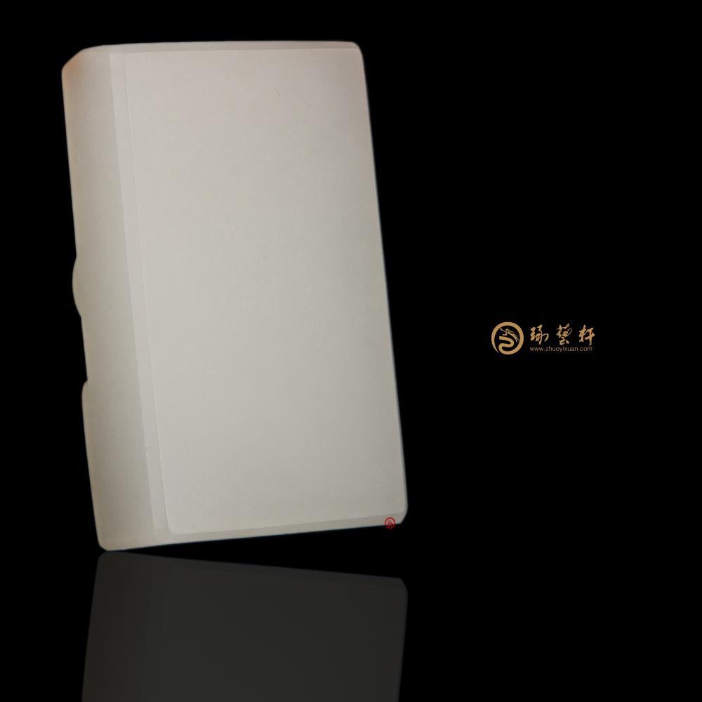 【琢艺轩】新疆和田红皮羊脂白籽玉挂件 卧虎藏龙 27克