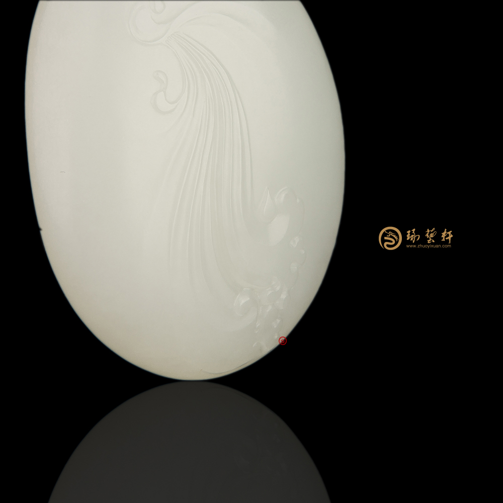【琢艺轩】新疆和田黄皮一级白玉籽玉挂件 连年有余 35克