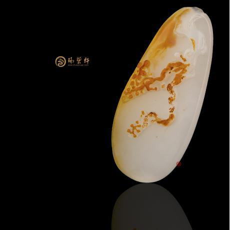 新疆和田红皮一级白籽玉挂件 喜上眉梢 6.7克