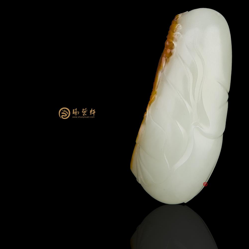 【琢艺轩】新疆和田红沁皮白玉籽玉挂件 庆余年 39克
