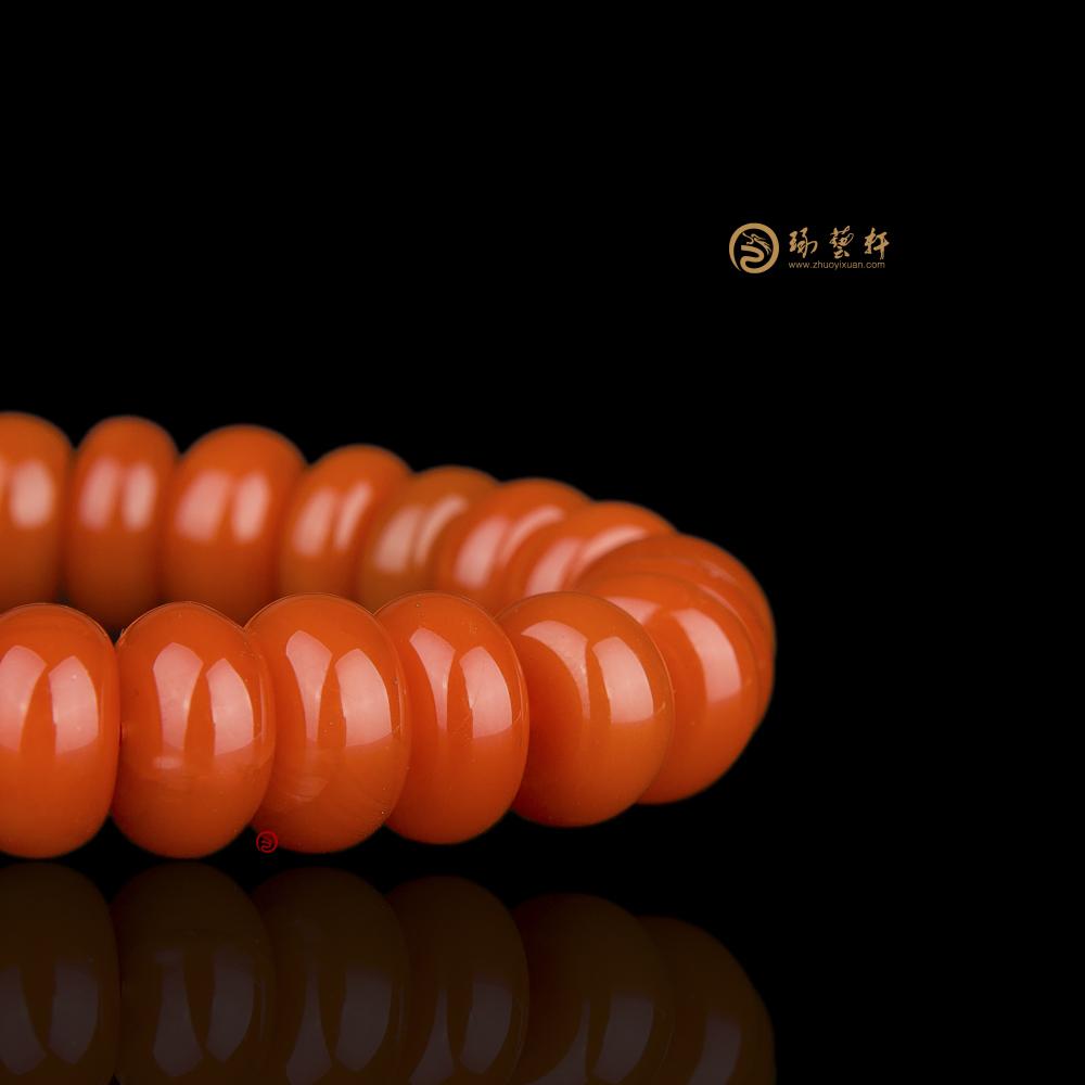 【琢藝軒】涼山南紅瑪瑙手串 算盤珠手串 46.8克