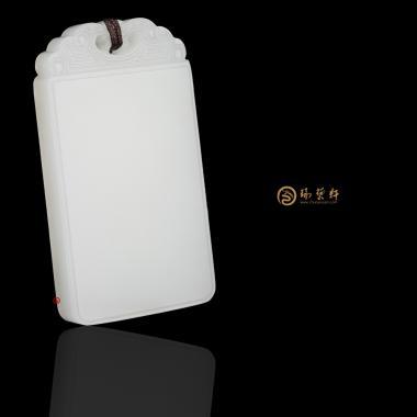 【琢艺轩】新疆和田一级白玉籽玉牌 祥云平安牌 28克