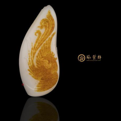 新疆和田紅皮羊脂白籽玉掛件 涅磐 24克