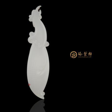 新疆和田羊脂白籽玉掛件 鳳 13.8克
