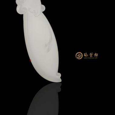 【琢艺轩】新疆和田羊脂白籽玉挂件 凤 13.8克