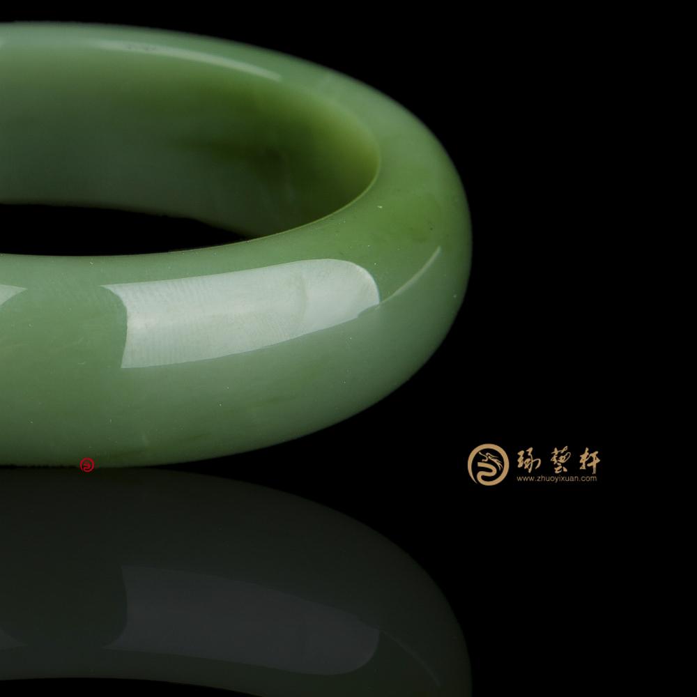 【琢艺轩】俄罗斯碧玉 手镯 81.6克
