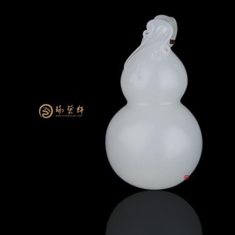 新疆和田一級白皮籽玉掛件 安康 16.5克