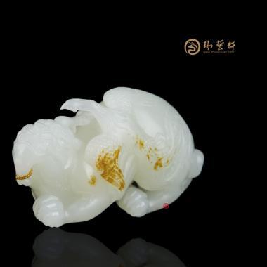 【琢艺轩】穆宇静 新疆和田黄皮白玉籽玉把件 成龙成凤 76克
