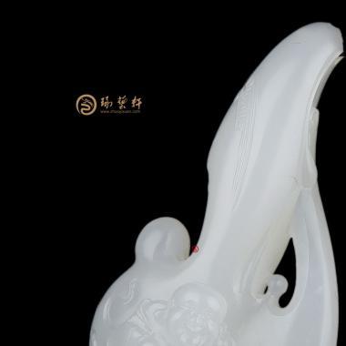 【琢藝軒】新疆和田白皮羊脂白籽玉掛件 彌勒佛 14.7克