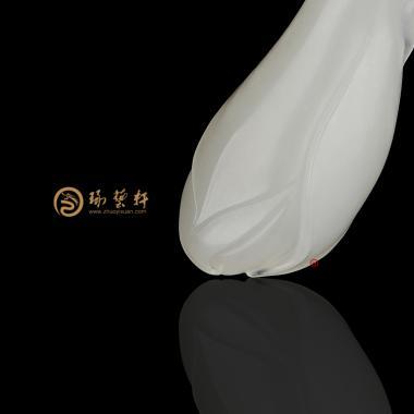 【琢艺轩】新疆和田白玉籽玉挂件 兰花 10.5克