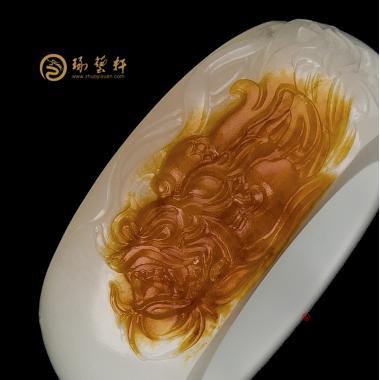 【琢艺轩】新疆和田红沁皮一级白籽玉扳指 神武 11.8克