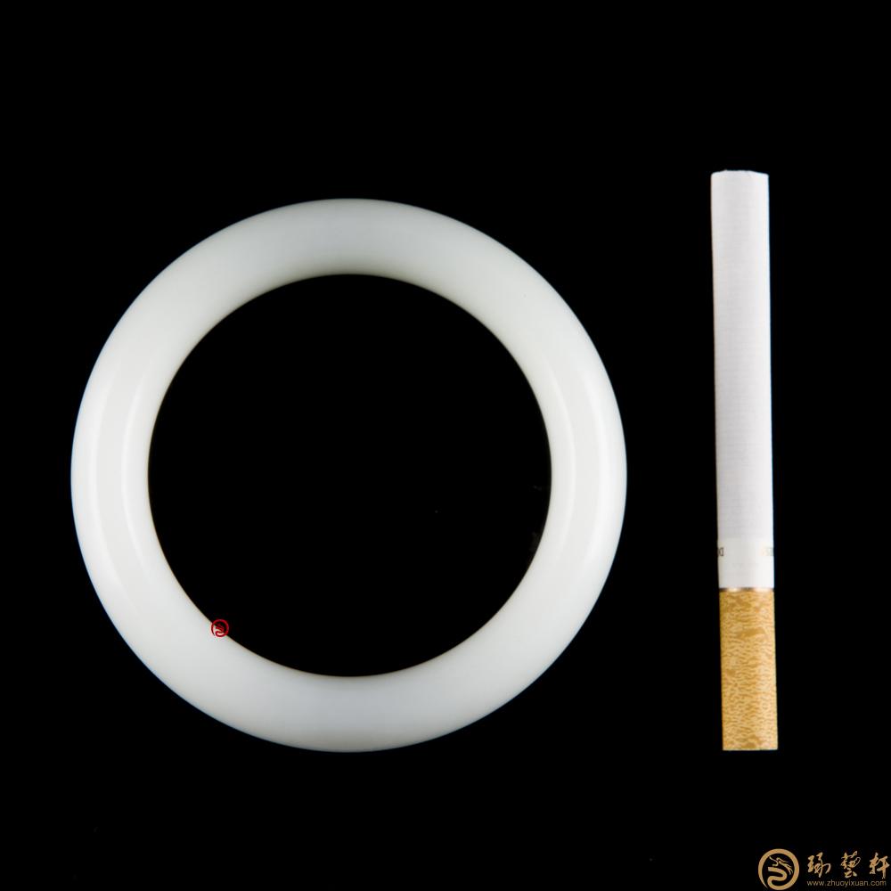 【琢藝軒】新疆和田一級白白皮籽玉 手鐲 85.6克
