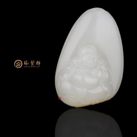 新疆和田红皮白玉籽玉挂件 弥勒佛 29克