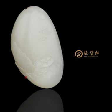 【琢艺轩】新疆和田玉白皮白玉籽玉挂件 山水 28克