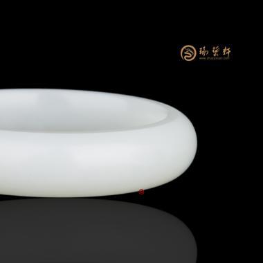 【琢藝軒】新疆和田一級白白皮籽玉 手鐲 62.1克