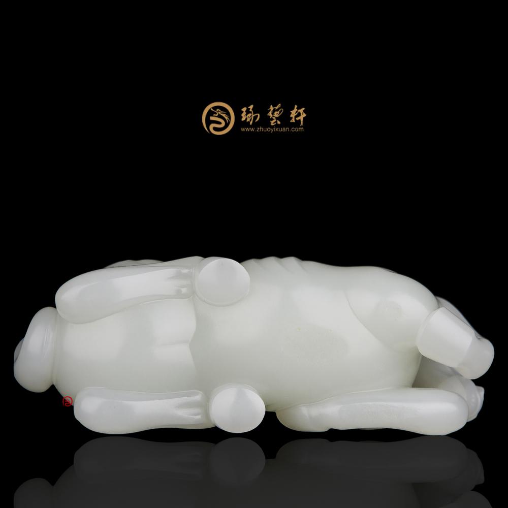【琢艺轩】新疆和田红皮白玉籽玉把件 马到功成 125克